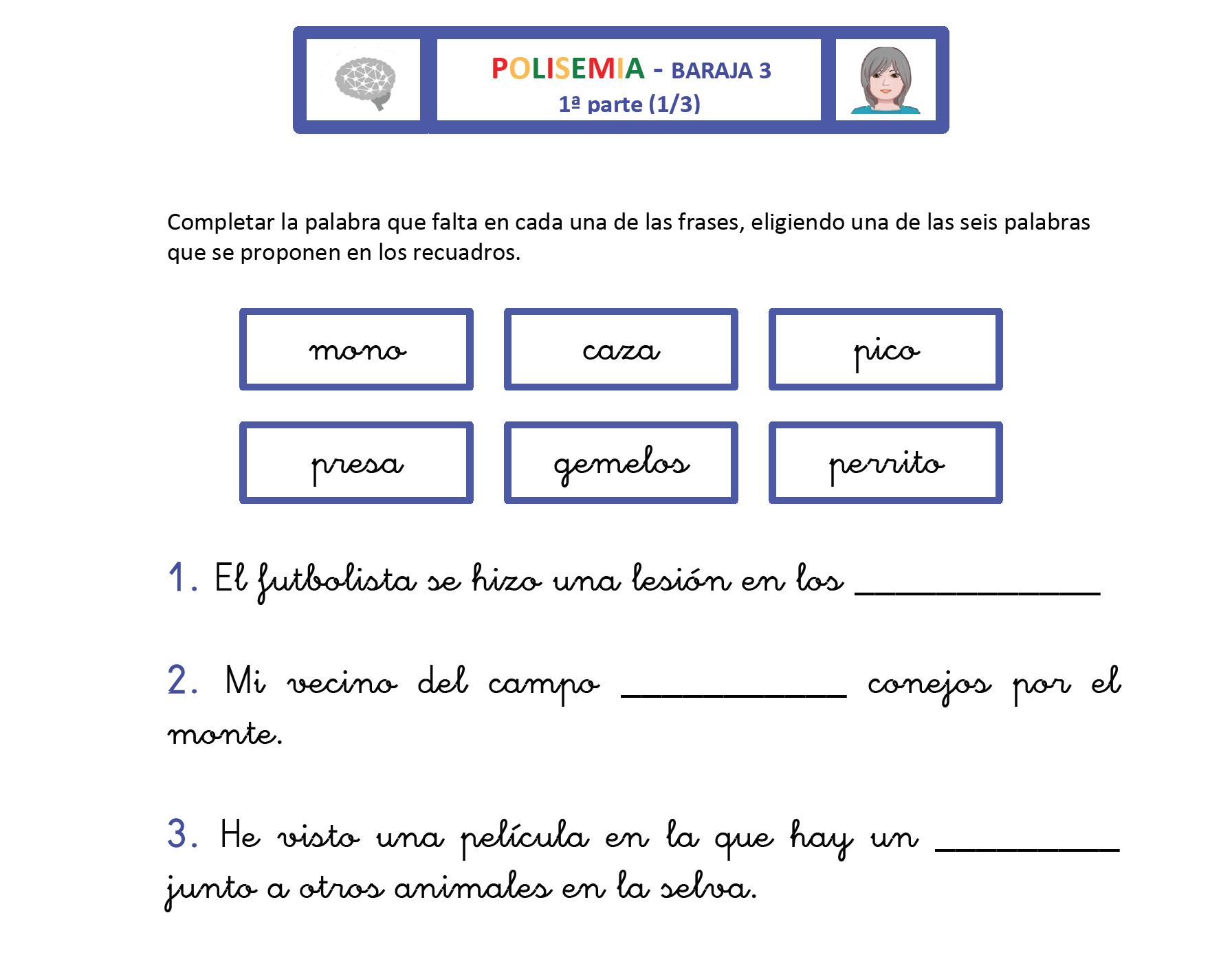 Polisemia Baraja 3 Pictoeduca